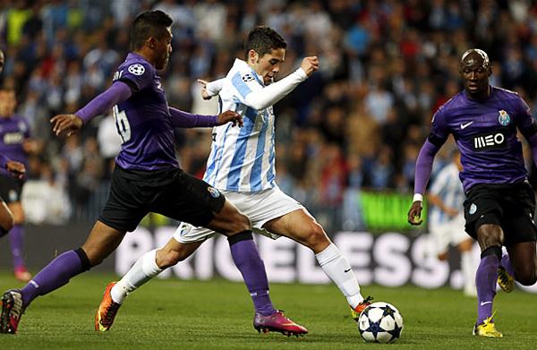 La mayor figura del Málaga es Isco, quien no solo conduce a su equipo ofensivamente, también aporta con goles (Foto: EFE)