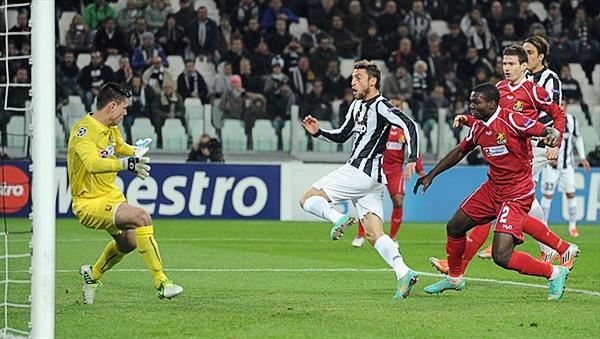 LA CLAVE: El gol que Claudio Marchisio anotó a los 7' le permitió un rápido control del partido a la Juventus (Foto: AFP)