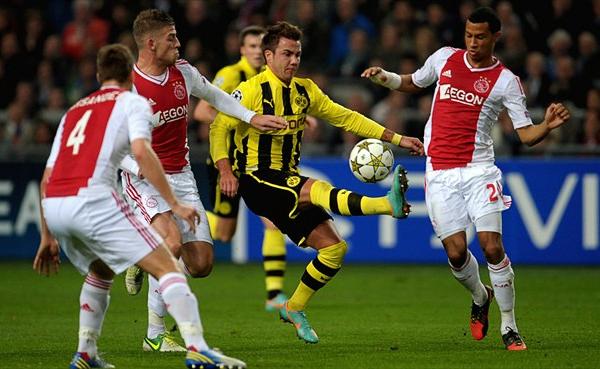 LA CLAVE: La campaña que Borussia Dortmund está cumpliendo en Europa tuvo un punto alto ante el Ajax que no pudo frenar a los alemanes (Foto: AFP)