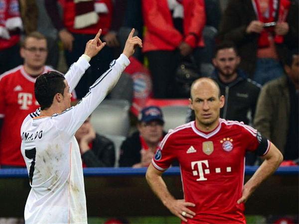 Recuperado de una lesión, Cristiano Ronaldo se unió a los contragolpes de Real Madrid que acabaron por matar al Bayern en su estadio (Foto: AFP)