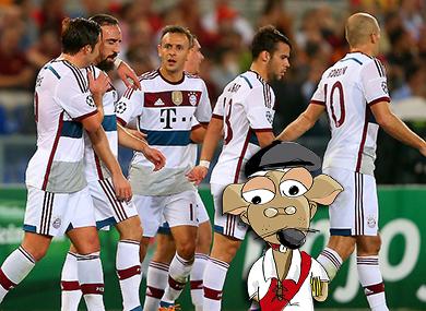 Bayern Munich, Roma, 1-7, Champions League