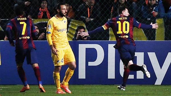 Messi volvió a hacer historia. El APOEL no fue problema para el goleador culé (Foto: AFP)