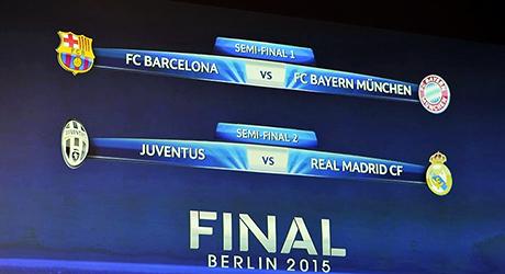 Sorteo, Champions, semifinal, Bayern, Barcelona, Real Madrid, Juventus