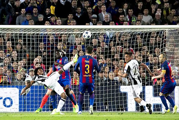 Juan Cuadrado fue pieza fundamental para que la Juventus diga presente en las semifinales de la Champions. (Foto: diario AS)