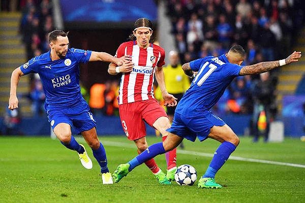 Atlético de Madrid se encargó de frenar lo que pudo ser una nuevo capítulo histórico del Leicester. (Foto: AFP)