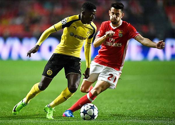 Dembelé fue el mejor de la cancha en el Benfica - Dortmund, más allá de la derrota de su equipo. (Foto: AFP)