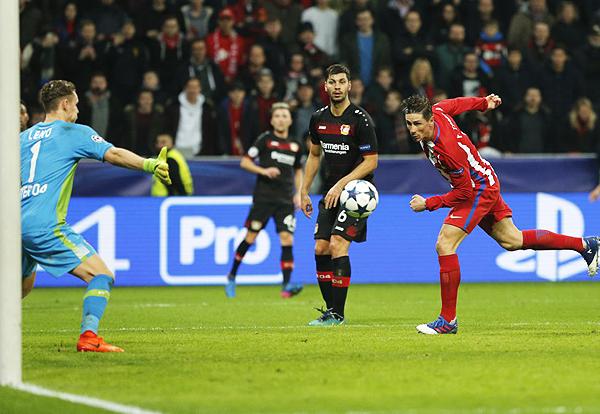 Fernando Torres anotó el último gol del Atlético de Madrid en el BayArena (Foto: Reuters)