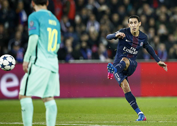 Ángel Di María fue trascendental en la goleada del PSG sobre Barcelona. (Foto: AFP)