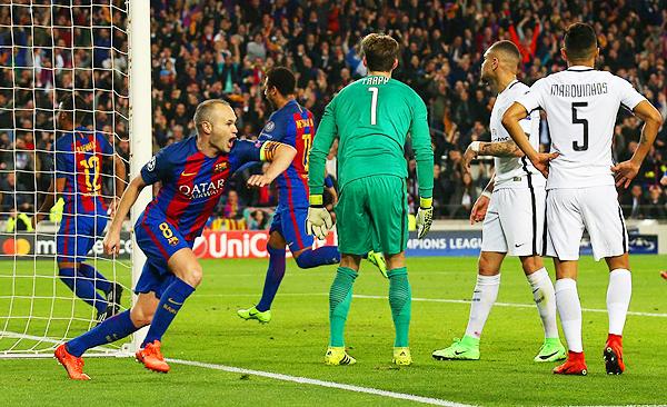 El gol de Andrés Iniesta abrió la ilusión de la remontada del Barcelona. (Foto: Reuters)