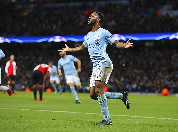 Sterling celebra. Sabe que es uno de los pilares en la ofensiva de un tremendo Manchester City. (Foto: AFP)