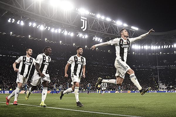En el estadio de la Juventus, Cristiano Ronaldo celebra. (Foto: UEFA)
