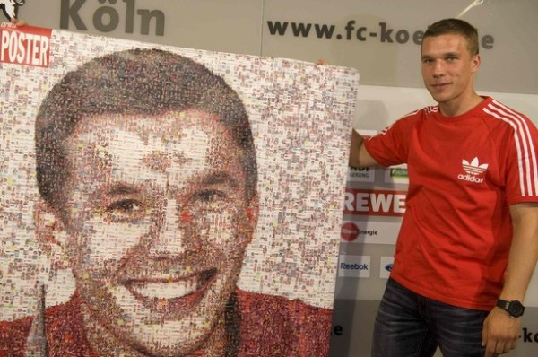 Lukas Podolski fue recibido en su casa, Colonia, como el hijo pródigo que volvió para devolverle protagonismo al equipo (Foto: Reuters)
