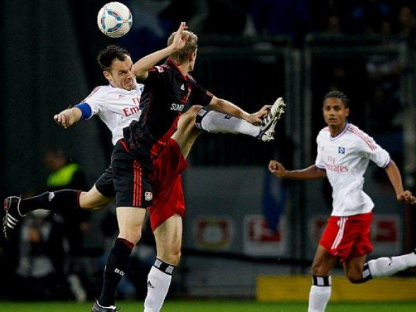 DE UNO EN UNO. Hamburgo le arrancó un punto a Bayer Leverkusen tras empatar 2-2. (Foto: AP)