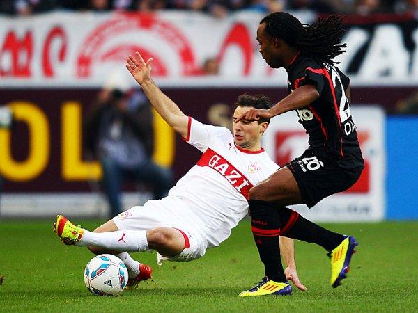 CON ANGUSTIA. El otro partido del domingo se disputó en Stuttgart. El cuadro local ganó por dos tantos de Martin Harnik por 2 a 1 a Augsburg. (AP)