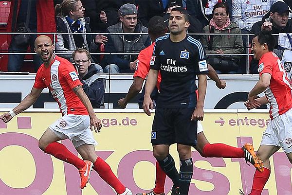 Una derrota en su visita a Mainz no alteró la suerte del Hamburgo, que debe revalidar su presencia en el tope de la Bundesliga (Foto: bundesliga.com)