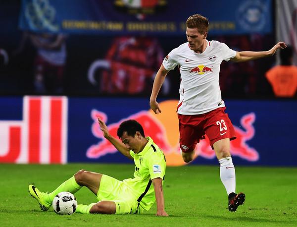 RB Leipzig consiguió romper un récord como debutante ante Augsburg. (Foto: AP)