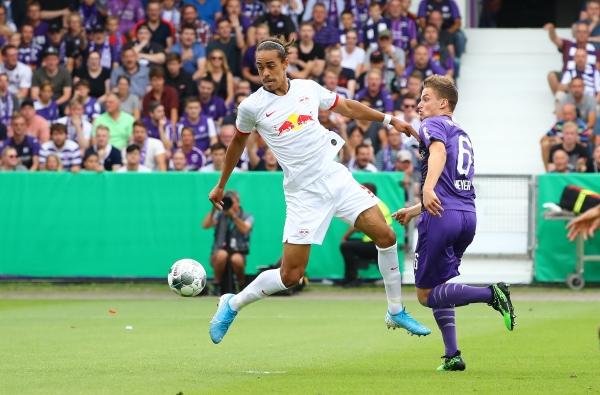 Yussuf-Poulsen es una de las figuras del RB Leipzig. (Foto: Prensa RB Leipzig)