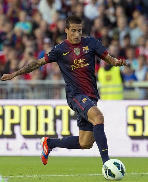 Cristian Tello es un jugador con buenas condiciones pero que al estar en un plantel tan rico como el catalán le va a costar ganarse un espacio para actuar (Foto: AFP)