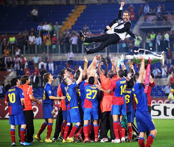 En el Barcelona nadie olvida aquellas actuaciones memorables con Guardiola en el banquillo. (Foto: AP)