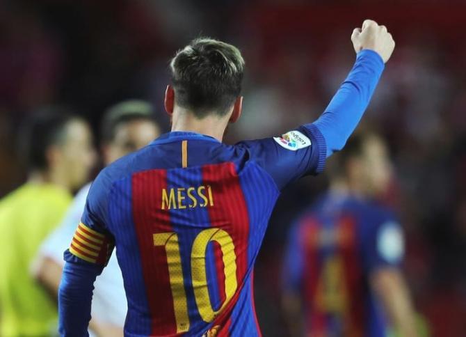 Messi anotó el empate de Barcelona con una estupenda definición, pero con una inteligente acción previa. (Foto: Reuters)