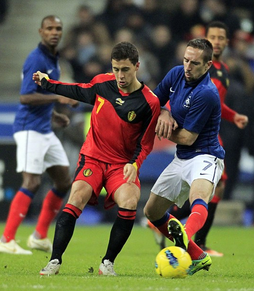 De la League 1 a su selección solo hubo un paso, el mismo que ahora tiene a Hazard en lo más alto del fútbol europeo (Foto: Reuters)