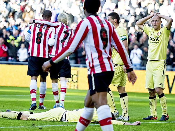 PSV 10 - Feyenoord 0. Un resultado para la historia. (Foto: AFP)