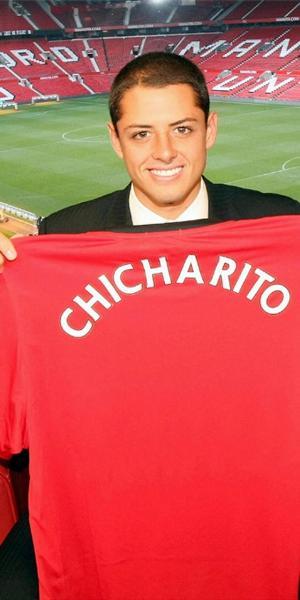 Javier 'Chicharito' Hernández llegó de Chivas a Manchester United y no se cansa de hacer goles en los amistosos (Foto: sipse.com)