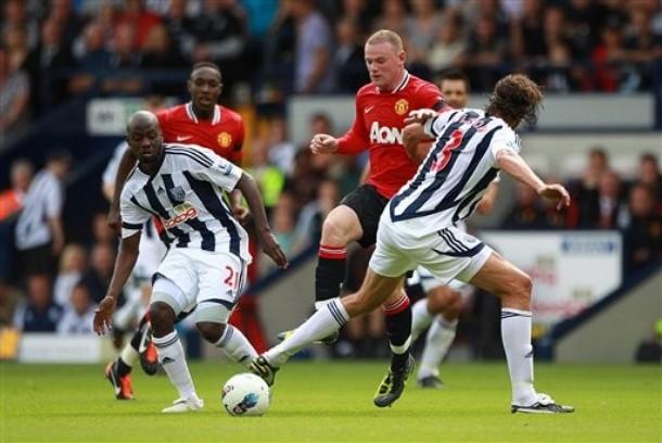 LE CAYÓ A PELO. Wayne Rooney también fue clave en el triunfo a domicilio del Manchester United sobre West Bromwich: abrió el camino del triunfo. (Foto: AP)