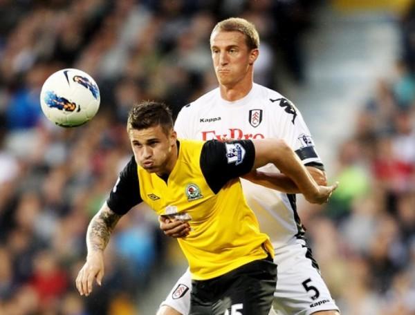 PA' TI NADA. Patrick Dempsey no pudo darle el triunfo a Fulham en el Craven Cottage ante Blackburn. El volante estadounidense tuvo una floja actuacion. (Foto: AP)