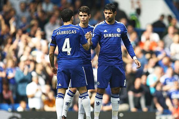Puede ser una de las mejores duplas que se ha visto este año en el fútbol mundial: Cesc Fábregas - Diego Costa (Foto: BPI)