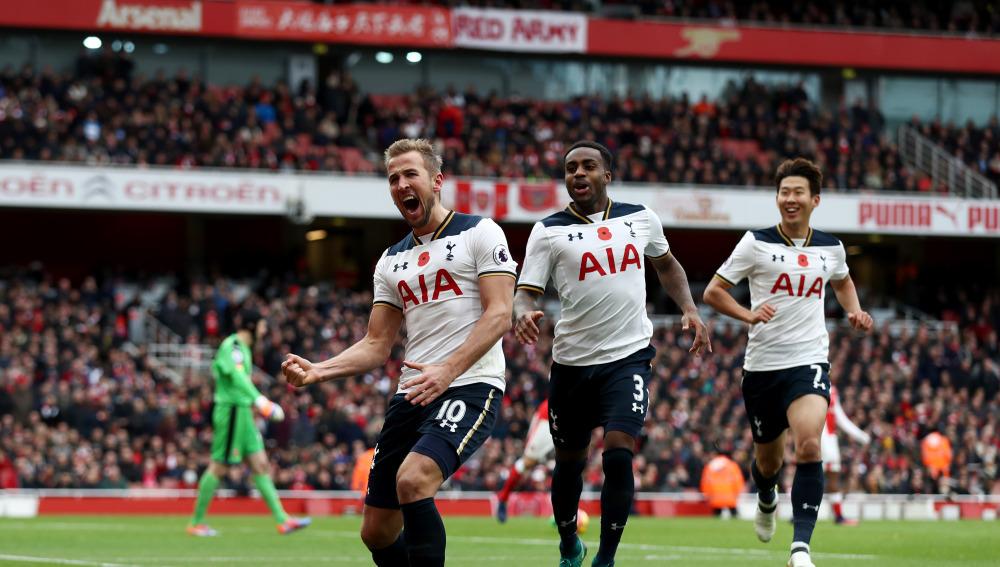 Kane detuvo el buen andar de Arsenal y lo mandó al cuarto lugar. (Foto: AP)
