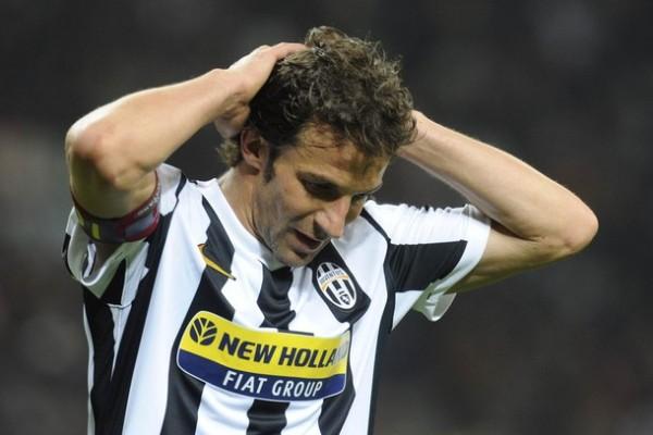 Del Piero no solo sufrió la última goleada ante Milan, sino todo el mal campeonato de la 'Juve' (Foto: Reuters)