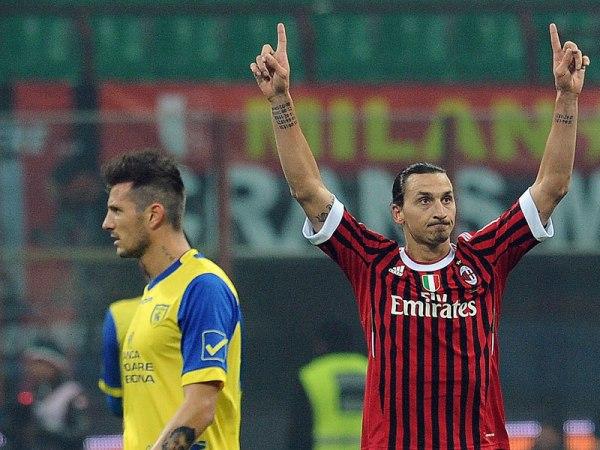 CON AUTORIDAD. El Milan no tuvo problemas para golear 4-0 al Chievo de Rinaldo Cruzado. (Foto: AP)