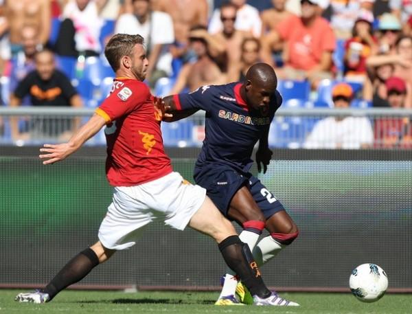ROMA SE INCENDIÓ. El cuadro dirigido por Luis Enrique comenzó mal el torneo cayendo como local 1-2 ante el modesto Cagliari. (Foto: AP )