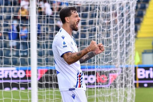 Caputo y una recompensa a su constancia: ser el piloto de ataque de la Sampdoria. (Foto: AFP)