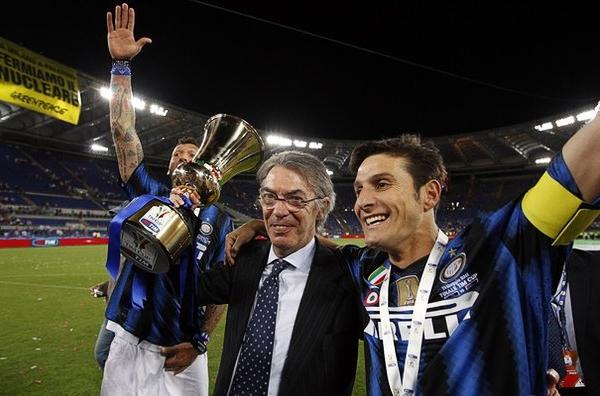 Tras la marcha de José Mourinho, los títulos para el Inter de Massimo Moratti han sido escasos y los técnicos abundantes en muy corto tiempo (Foto: Reuters)