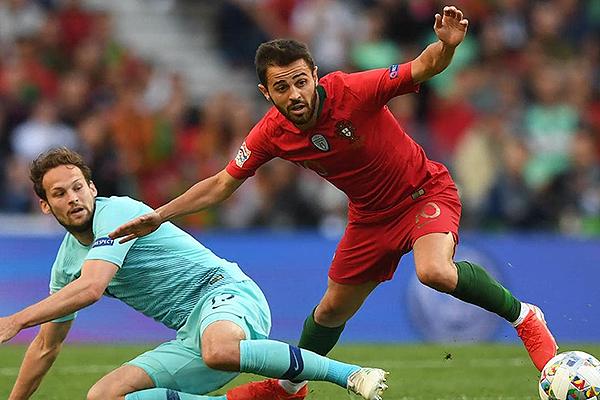 Bernardo Silva fue importante en Portugal. (Foto: AFP)