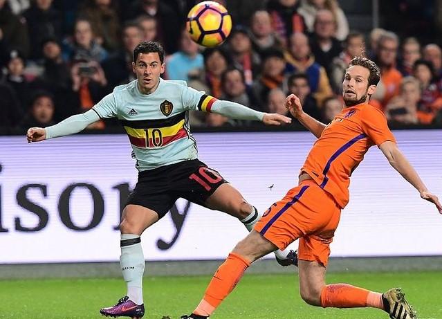 Daley Blind y Eden Hazard serían los referentes de una actual selección del Benelux. (Foto: AFP)