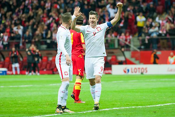 Robert Lewandowski volvió a demostrar su jerarquía con Polonia. (Foto: Getty Images)