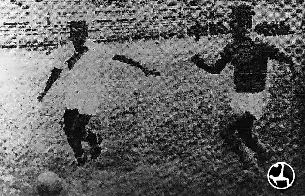 La selección de ascenso se había preparado para el singular Sudamericano. Antes del viaje, empató con Alfonso Ugarte de Chiclín. (Recorte: diario La Crónica)