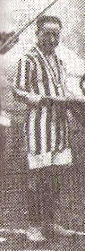 Telmo Carbajo con la camiseta de Atlético Chalaco. (Foto: libro 'Episodios Singulares del Deporte', Teodoro Salazar Canaval)