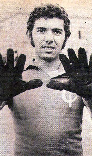 El nombre del arquero Eloy Martín Tojo quedó grabado como uno de los más importantes en la historia del Junín (Recorte: revista Ovación)