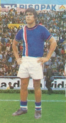 Jorge 'Zorro' Jaramillo fue un notable extremo del Carlos A. Manucci e  la sdécadas pasadas (Foto: álbun Descentralizado 1976)