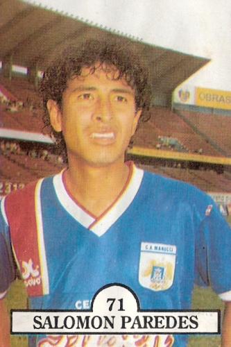 5. PAREDES. Tesón, pundonor y plena identidad con el mediocampo carlista (Cromo: álbum Las Estrellas del Fútbol 1992, Editorial Navarrete)