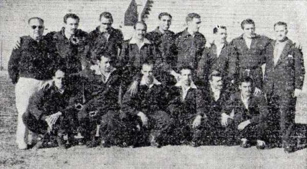 Una embajada argentina estuvo cerca de instalarse en el equipo dinamitero en 1951 (Recorte: diario La Crónica)