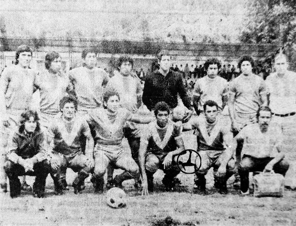 Equipo de Sport Áncash en 1975 cuando transitaba el duro camino de la Copa Perú (Recorte: diario El Comercio)