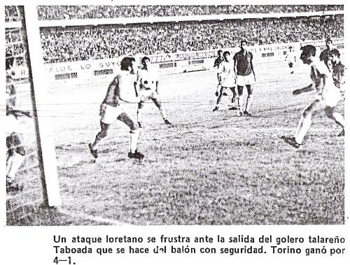 CNI y Torino frente a frente en la Copa Perú de 1970. La historia feu bastante distinta: ganaron los talareños por 4-1 (Foto: diario La Crónica)