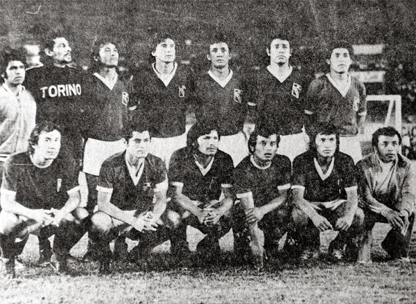 Los once de Torino en el partido de la última fecha de la Finalísima que culminó en empate (Recorte: diario La Crónica)