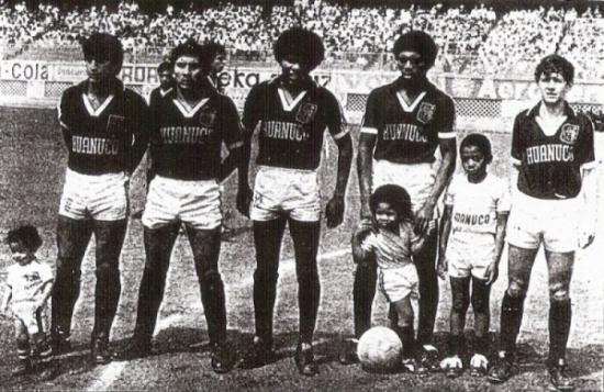 Algunos de los baluartes de León en la Finalísima de 1980: Ríos, Rivera, Real, Garrido y Fallaque (Recorte: diario La Crónica)