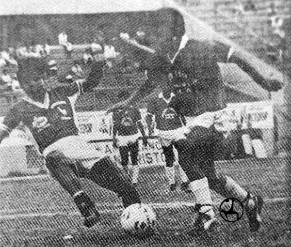 Al Donayre no le alcanzó con dar pelea para sacar un buen resultado frente al Cañaña (Recorte: diario La Crónica)